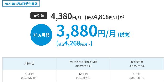 UQ WiMAX WiMAX +5Gはじめる割